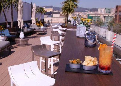 K+K Hotel Picasso Barcelona Rooftop Terrace with Drinks