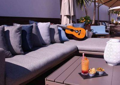 K+K Hotel Picasso Barcelona Rooftop Terrace with Guitar