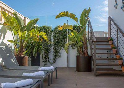 K+K Hotel Picasso Barcelona Terrace Sun Loungers