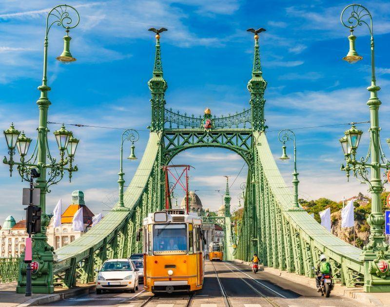 Budapest Streets and Bridge